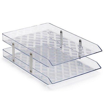 Caixa de Correspondência Waleu Dupla Fixa Cristal