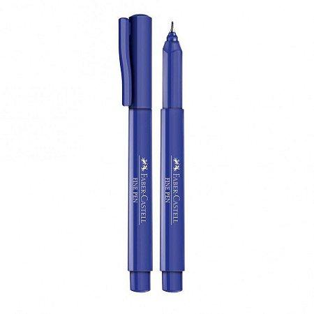 Caneta Faber Castell 0.4 Fine Pen Azul