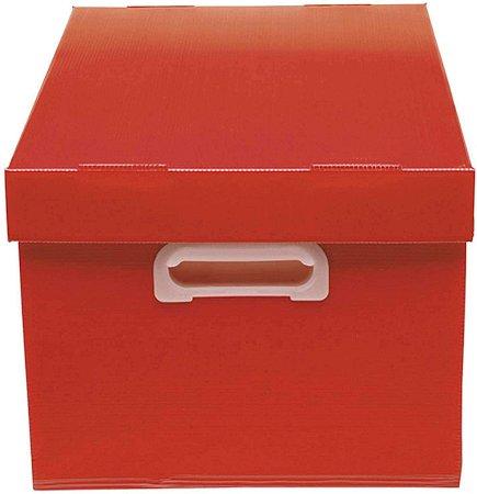 Caixa Organizadora Polibras G 240X310X437 mm Vermelho