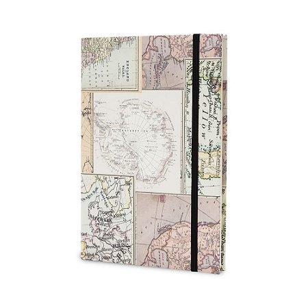 Caderno de Anotações Maxprint Mapa Antigo