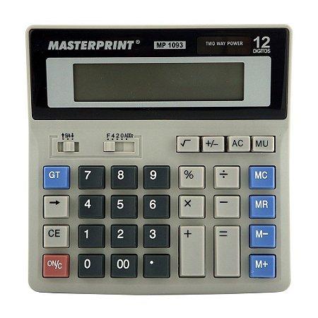 Calculadora Masterprint Mp1093 12 Dígitos