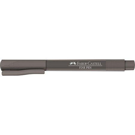 Caneta Faber Castell 0.4 Fine Pen Cinza