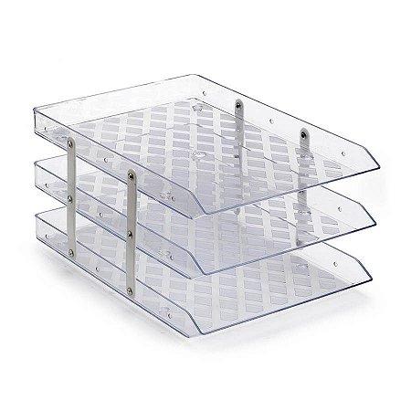 Caixa de Correspondência Waleu Tripla Fixa Cristal
