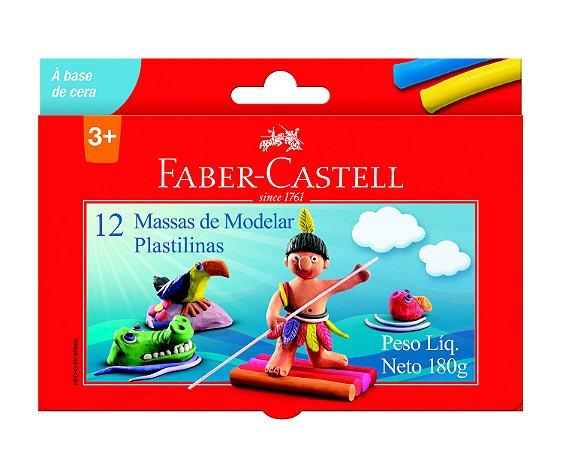 Massa de Modelar Faber Castell 12 Unidades