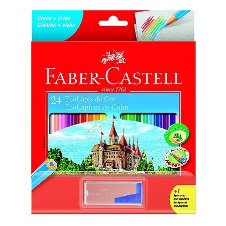 Lápis de Cor Faber Castell Eco Lápis com 24 Unidades + Apont