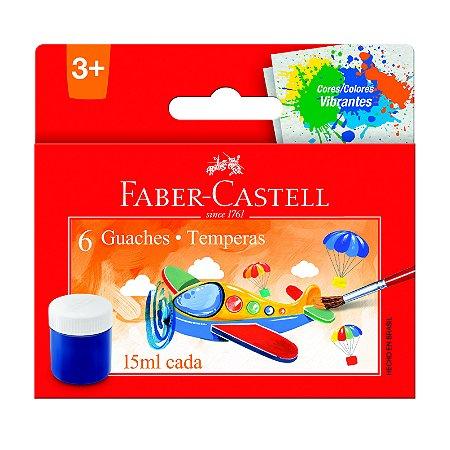 Guache Faber Castell com 6 Unidades de 15ML cada