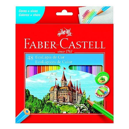 Lápis de Cor Faber Castell Eco Lápis com 48 Unidades