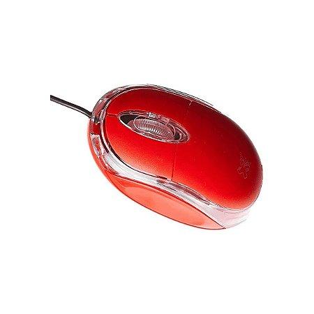 Mouse Maxprint Colors Vermelho 1000Dpi Usb