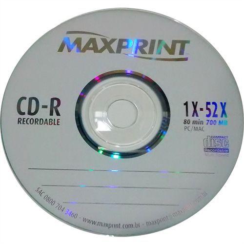 CD-R Gravável Maxprint 700MB