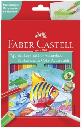Lápis de Cor Faber Castell Aquarelável com 36 Unidades