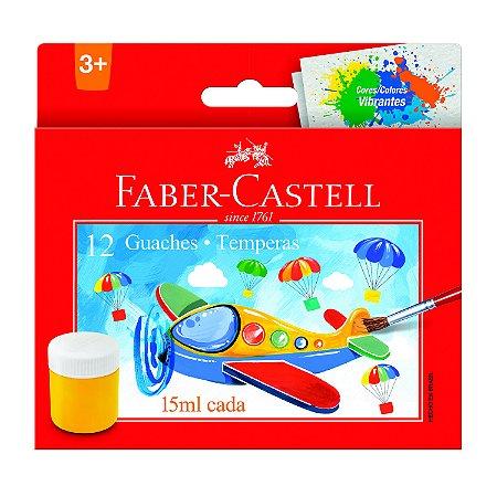 Guache Faber Castell com 12 Unidades 15mL cada