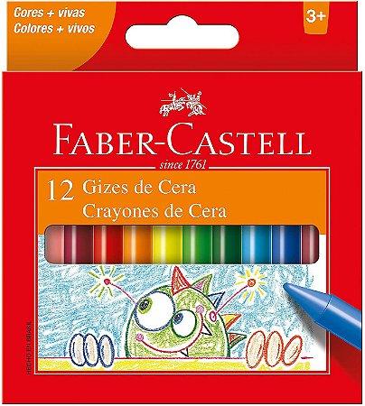 Gizão De Cera Faber Castell Jumbo com 12 Unidades