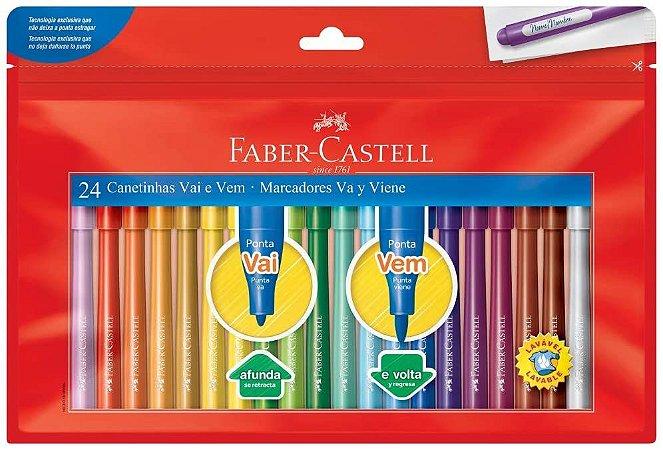 Hidrocor Faber Castell Vai Vem com 24 Unidades