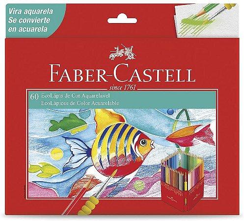 Lápis de Cor Faber Castell Aquarelável com 60 Unidades
