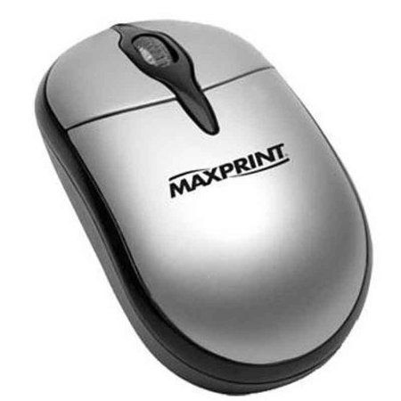 Mouse Maxprint Ótico Usb 800Dpi Prata/Preto