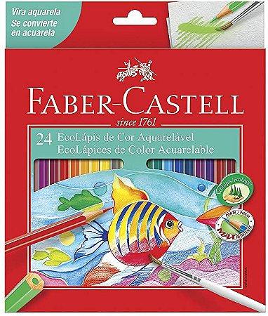 Lápis de Cor Faber Castell Aquarelável com 24 Unidades