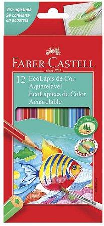Lápis de Cor Faber Castell Aquarelável com 12 Unidades