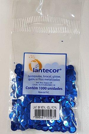 Lantejoula Lantecor Azul Royal N8 1000 Unidades