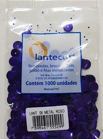 Lantejoula Lantecor Roxo N8 1000 Unidades
