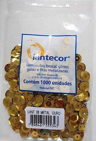 Lantejoula Lantecor Ouro N8 1000 Unidades