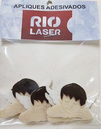 Aplique Adesivado Rio Laser Anjo Marrom