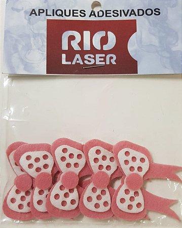 Aplique Adesivado Rio Laser Laço Rosa