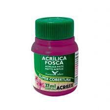 Tinta Acrílica Fosca Acrilex Fuchsia 37Ml