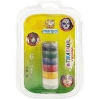 Pintura Facial Cremosa Maripel com 6 Cores