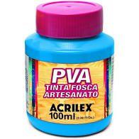 Tinta Pva Acrilex Fosca Azul Celeste 100Ml