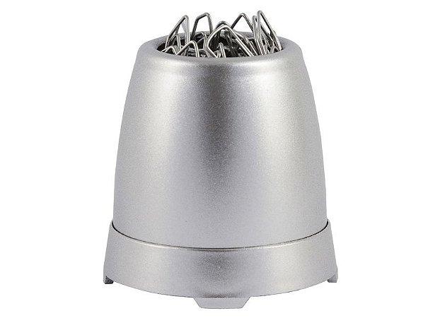 Porta Clips Maxcril Metalizado Prata Fosco