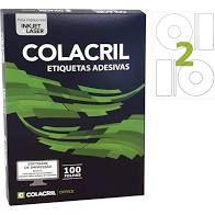 Etiqueta Colacril Cc100 2 por Folha Cd 115mm com 100 folhas