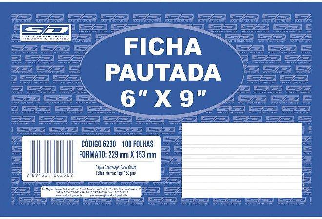 Ficha Pautada São Domingos 6X9 229X53mm
