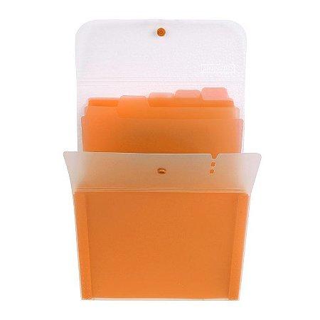 Pasta Sanfonada Vertical Dermiwil Container 5 Divisórias com