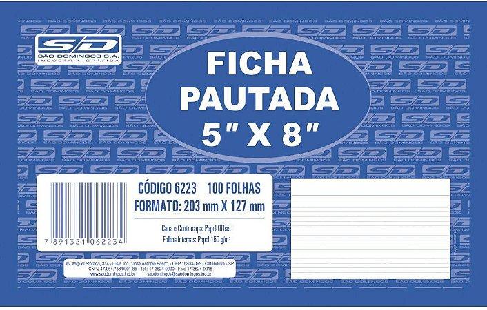 Ficha Pautada São Domingos 5X8 203X127mm