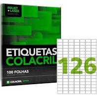 Etiqueta Colacril Ca4349 126 por Folha 26mmx15mm com 100 fol
