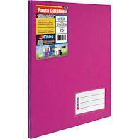 Pasta Catálogo Chies Ofício Pink com 25 Plásticos