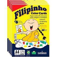 Papel A4 120G Filipinho Color Cards 24 folhas