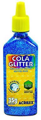 Cola com Glitter Acrilex Azul 35G