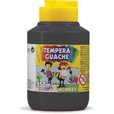 Guache 250Ml Acrilex Preto