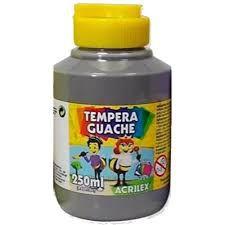 Guache 250Ml Acrilex Cinza