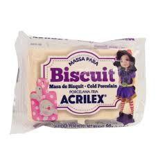 Massa de Biscuit Acrilex Amarelo Pele 90G