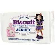 Massa de Biscuit Acrilex Natural 90G