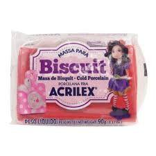 Massa de Biscuit Acrilex Vermelho 90G