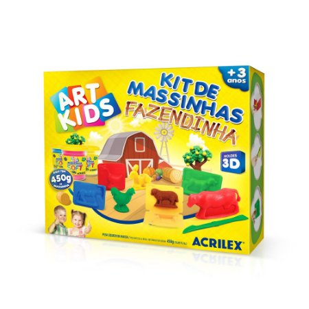 Kit Massinha Acrilex Art Kids Fazendinha
