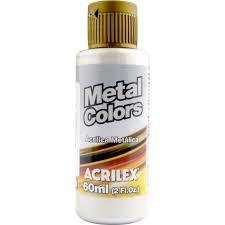 Tinta Metal Colors Acrilex Prata 60Ml