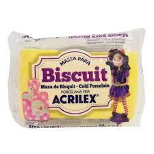 Massa de Biscuit Acrilex Amarelo Ouro 90G