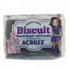 Massa de Biscuit Acrilex Preto 90G