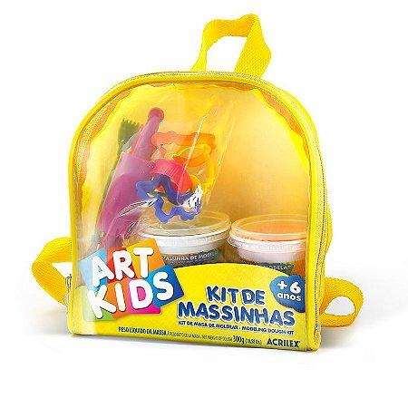 Kit De Massa Modelar Acrilex com Mochila Art Kids