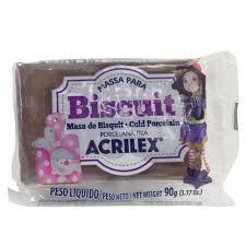 Massa de Biscuit Acrilex Marrom 90G