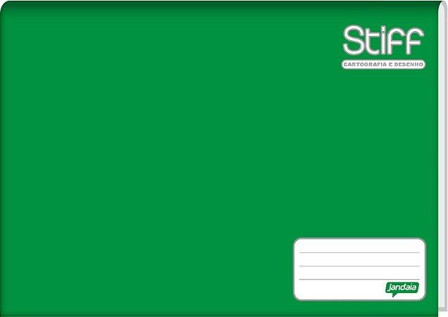 Caderno de Desenho Jandaia Stiff Brochura Vertical Verde 96